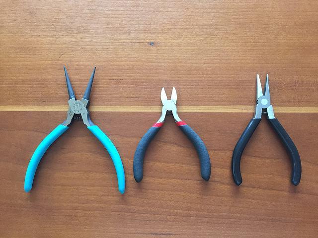 ハンドメイドのシンプルピアスに使う「道具」
