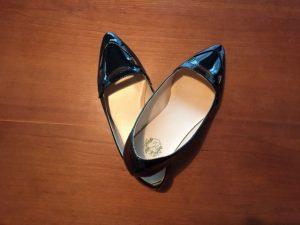 ファーシューズクリップを付ける前の靴