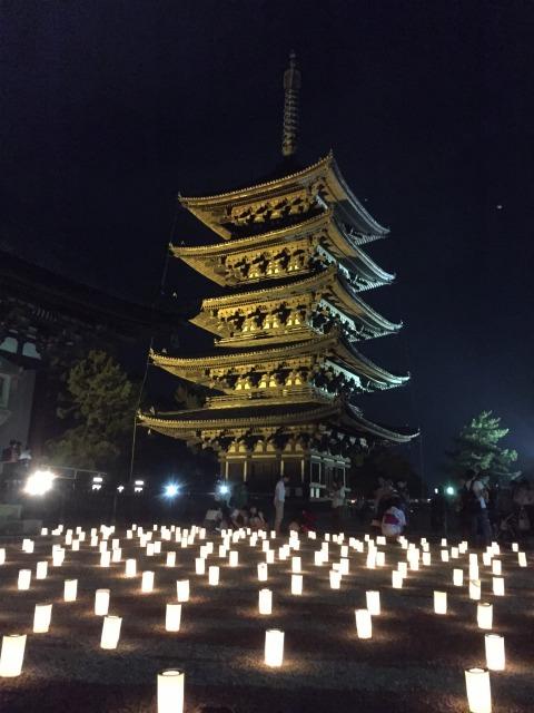 燈花会興福寺五重塔