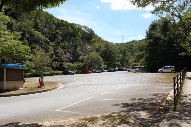 ほしだ園地の駐車場の様子