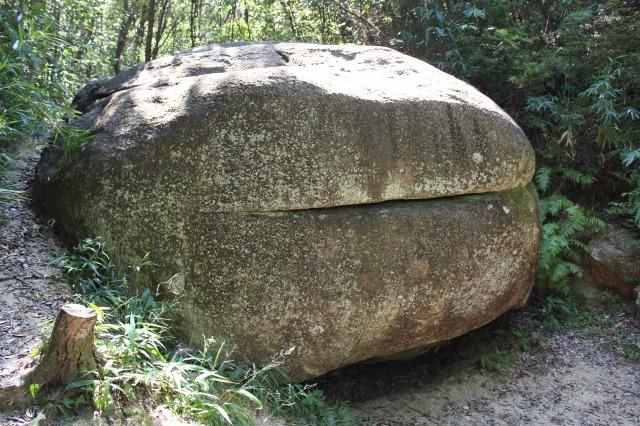 ほしだ園地のハンバーガー岩